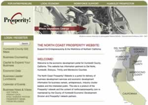 Prosperity Web Site Home Page