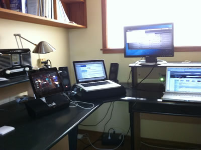 All my screens on my desk
