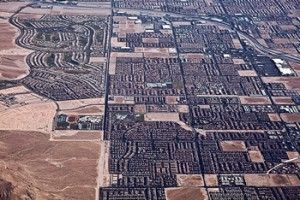 aerial view of tract homes in Las Vegas